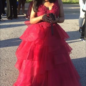 Burgundy Prom Dress (Ball gown)
